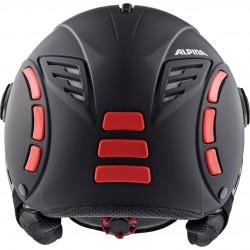 ALPINA JUMP 2.0 VISOR Varioflex Helmet - Black red matt