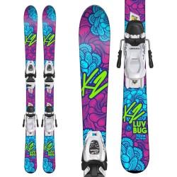 K2 LUVBUG Junior Ski + MARKER FDT 7.0
