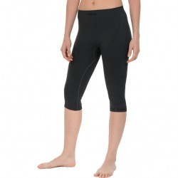 MICO 7018 Women's 3/4 Pant M1 Performance - Black - Γυναικείο 3/4 ισοθερμικό κολάν - black