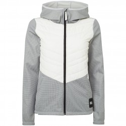 O'NEILL Athmos Baffle Mix Ski Fleece - Women's Fleece Jacket - Silver Melee