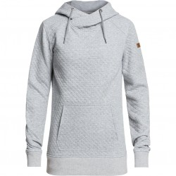 ROXY Dipsy - Women's Technical Quilted Hoodie - Heather Grey