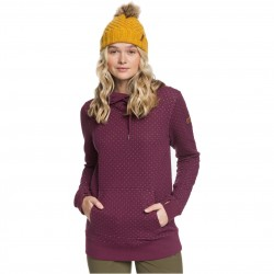 ROXY Dipsy - Women's Technical Quilted Hoodie - Grape Wine