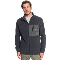 QUIKSILVER Waterman Portview - Zip-Up Mock Neck Men's Fleece - Raven