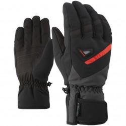ZIENER GARY AS® - Men's ski gloves - Black/Graphite