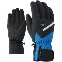 ZIENER GARY AS® - Men's ski gloves - Black/Persian Blue