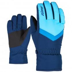 ZIENER Landala Girls - Παιδικά Γάντια Ski - Blue aqua/Estate blue