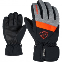 ZIENER LEIF GTX - Παιδικά Gore-tex Γάντια Σκι - Dark melange/Black