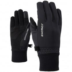 ZIENER LIDEALIST GWS TOUCH - Παιδικά γάντια Softshell Multisport - Black