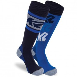 K2 All Mountain Junior 2 pack 14354 - Kid's Ski socks - Navy/Lt Grey/Royal + Royal/Navy