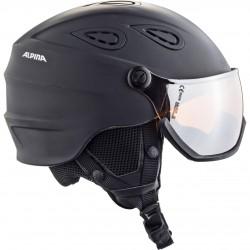 ALPINA Grap Visor 2.0 Hybrid Mirror - Κράνος με μάσκα - black matt