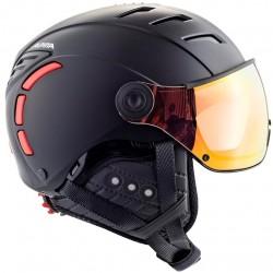 ALPINA Jump 2.0 QVM - Κράνος με μάσκα - Black Red matt