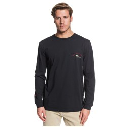QUIKSILVER Dunescape - Men's Long Sleeve T-Shirt  - Black