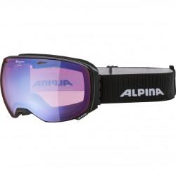 ALPINA BIG HORN HiconMirror - Μάσκα Ski/Snowboard- Black matt/Blue spherical