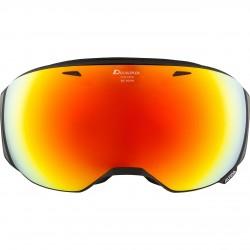 ALPINA BIG HORN HiconMirror - Μάσκα Ski/Snowboard - Black matt/Red spher.