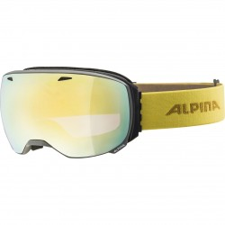 ALPINA BIG HORN HiconMirror - Μάσκα Ski/Snowboard- Grey curry/Gold spherical