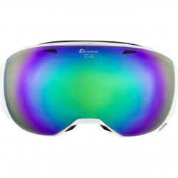 ALPINA BIG HORN HiconMirror - Ski/Snowboard goggle- White/Green spherical