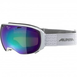 ALPINA BIG HORN HiconMirror - Μάσκα Ski/Snowboard- White/Green spherical