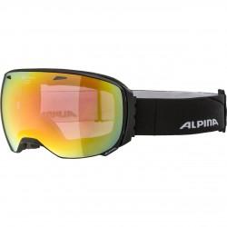 ALPINA BIG HORN Quattroflex HiconMirror - Μάσκα Ski/Snowboard- Black matt/Red spher.