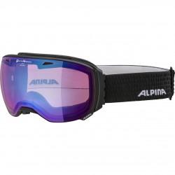 ALPINA BIG HORN Quattroflex Varioflex Mirror - Μάσκα Ski/Snowboard- Black matt/Blue spher.