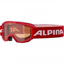 ALPINA PINEY Singleflex Hicon - Παιδική Mάσκα ski - Red
