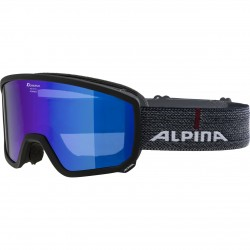 ALPINA  Scarabeo Hicon Mirror Cylindrical - Μάσκα Ski/Snowboard - Black/Blue