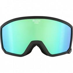 ALPINA  Scarabeo Hicon Mirror Cylindrical - Μάσκα Ski/Snowboard - Black matt/Green