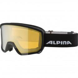 ALPINA  Scarabeo Hicon Mirror Cylindrical - Μάσκα Ski/Snowboard - Black matt/Yellow