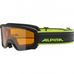 ALPINA SCARABEO Junior Doubleflex Hicon - Παιδική Mάσκα ski - Black neon