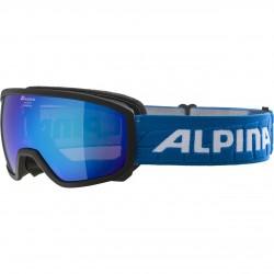 ALPINA SCARABEO Junior Hicon Mirror - Παιδική Μάσκα Ski/Snowboard - Black Light blue/Blue spher.