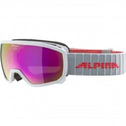 ALPINA SCARABEO Junior Hicon Mirror - Παιδική Μάσκα Ski/Snowboard - White flamingo/Pink spher.