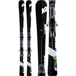K2 Turbo Charger Skis + MXC 12 TCX Light Quikclik Bindings 2020