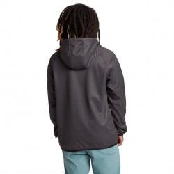 BURTON Men's Crown Weatherproof Full-Zip Fleece - True Black Heather