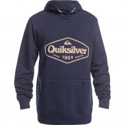 QUIKSILVER Big Logo Tech- Technical Men's Hoodie - Navy Blazer