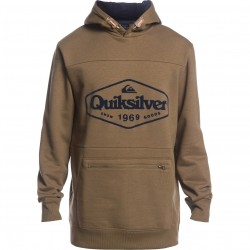 QUIKSILVER Big Logo Tech- Technical Men's Hoodie - Military Olive