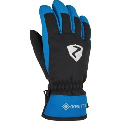 ZIENER LARINO GTX - Παιδικά Γάντια Σκι Gore-tex - Black/Persian Blue