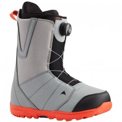 BURTON  Moto Boa®- Grey-Red - Men's Snowboard Boot 2021