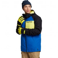 BURTON Radial GORE-TEX - Men's snow Jacket - Lapis Blue/True Black/Limeade