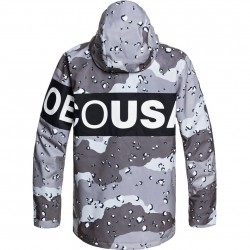 DC Propaganda - Men's Snow Jacket - Chocolate chip/Greyscale camo