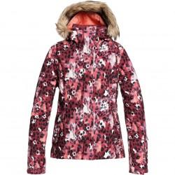 ROXY Jet Ski - Women's Snow Jacket - Oxblood Red Leopold