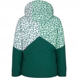 ZIENER Alani Junior - Junior Snow Jacket - Spruce Green/White leo