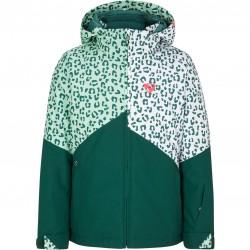 ZIENER Alani Junior - Παιδικό Mπουφάν Ski/Snowboard - Spruce Green/White leo