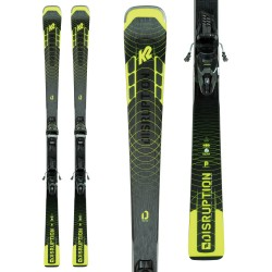 K2 DISRUPTION SC Skis + M3 11 Compact Quikclik Bindings 2021