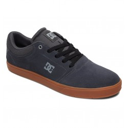 DC Crisis - Leather Shoes for Men - Charcoal