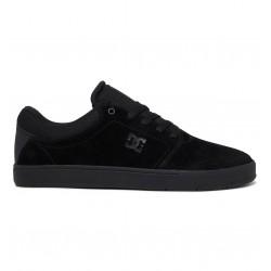 DC Crisis - Leather Shoes for Men - Black/Black