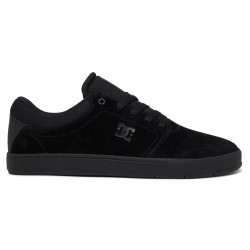 DC Crisis - Leather Shoes for Men - Black/Black