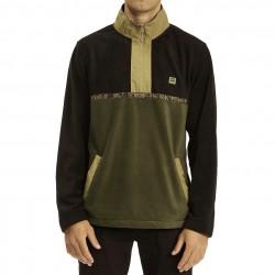BILLABONG Boundary - Half Zip Pullover Fleece for Men - Dark Olive