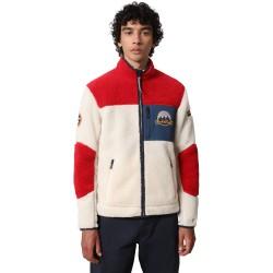 NAPAPIJRI Yupik - Men's Full Zip Fleece - Red