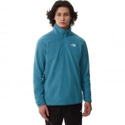 THE NORTH FACE Men's 100 Glacier 1/4 Zip Fleece - Storm Blue