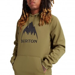 BURTON Men's Crown Weatherproof Pullover Fleece - Martini Olive