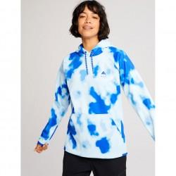 BURTON Crown Weatherproof - Women's Pullover Fleece - Cobalt Abstract Dye
